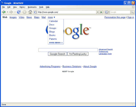 google-homepage-testing.png